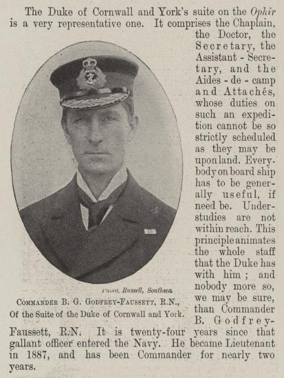 Commander B G Godfrey-Faussett, Rn, of the Suite of the Duke of Cornwall and York--Giclee Print