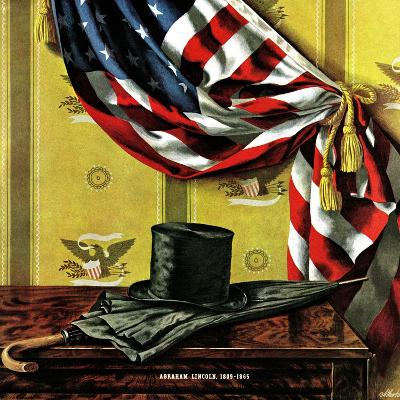 """Commemorating Lincoln's Birthday,"" February 12, 1944-John Atherton-Giclee Print"