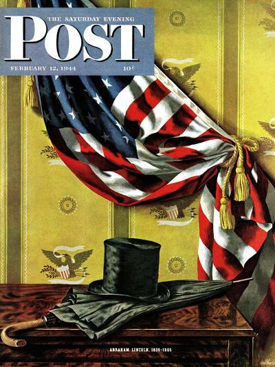 """Commemorating Lincoln's Birthday,"" Saturday Evening Post Cover, February 12, 1944-John Atherton-Giclee Print"