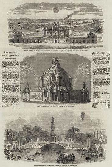 Commemoration of the Peace of Aix-La-Chapelle, 1748--Giclee Print
