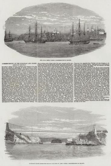 Commencement of the European and North American Railway--Giclee Print