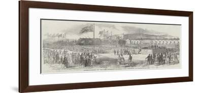Commencement of the New Docks at Swansea, the Ceremony in Burrows-Square--Framed Giclee Print