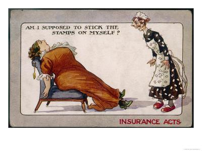 Comment on Lloyd George's National Insurance Act--Giclee Print
