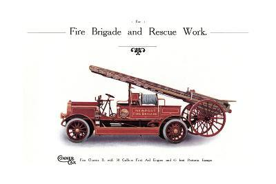 Commer Fire Engine--Giclee Print