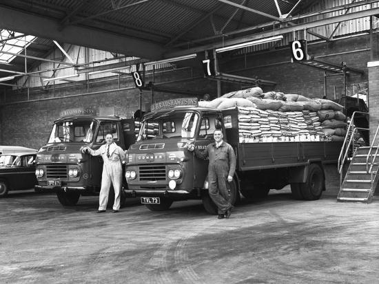 Commer Lorries at Spillers Foods Ltd, Gainsborough, Lincolnshire, 1962-Michael Walters-Photographic Print