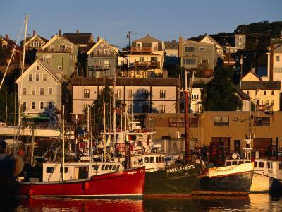 Commercial Fishing Boats in Gloucester Harbour, Cape Ann, Massachusetts, USA-Stephen Saks-Photographic Print