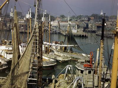 Commercial Fishing Boats of All Sizes Crowd the Town's Busy Harbor-B^ Anthony Stewart-Photographic Print