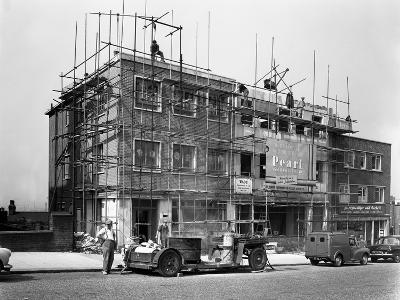 Commercial Shop Unit Construction in Rotherham, South Yorkshire, 1962-Michael Walters-Photographic Print