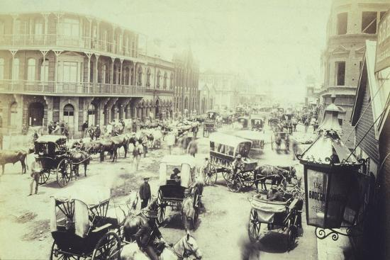 Commissioner Street in Johannesburg, 1890, South Africa 19th Century--Giclee Print
