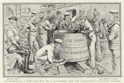 Commissioning a New Grog-Tub on a Battleship for the Coronation, Finishing Touches-William T^ Maud-Giclee Print