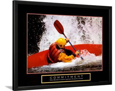 Commitment: Kayak--Lamina Framed Art Print