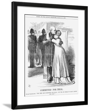 Committed for Trial, 1869-John Tenniel-Framed Giclee Print