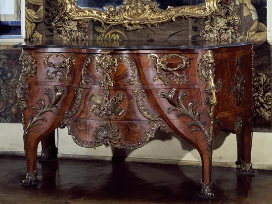 Commode with Bronze Applications-Christian Jacob Preisler-Giclee Print