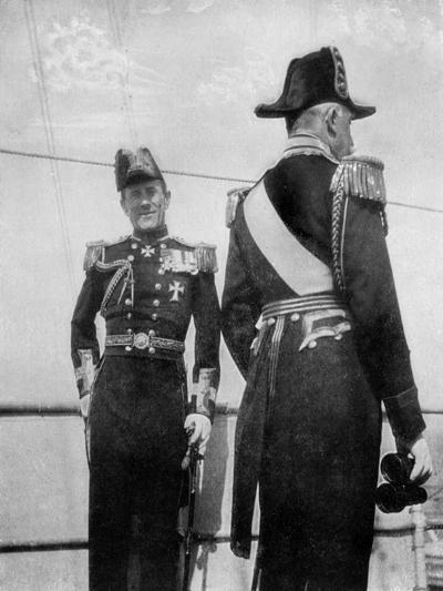 Commodore Keppel with the Duke of Connaught, 1908--Giclee Print