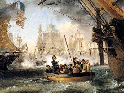 Commodore Perry at the Battle of Lake Erie-Thomas Birch-Giclee Print