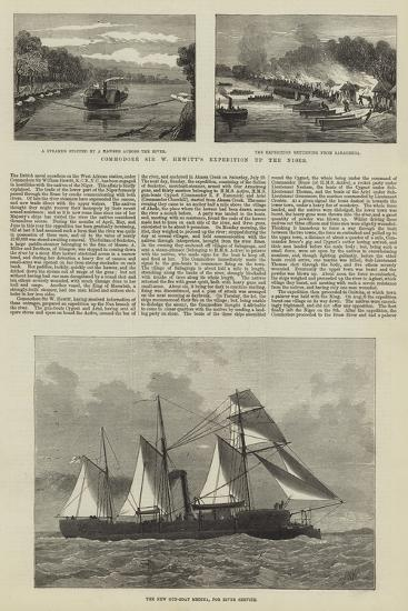 Commodore Sir W Hewitt's Expedition Up the Niger--Giclee Print