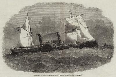 Commodore Vanderbildt's Steam-Yacht, The North Star-Edwin Weedon-Giclee Print