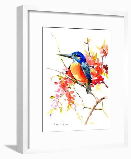 Common Kingfisher-Suren Nersisyan-Framed Art Print