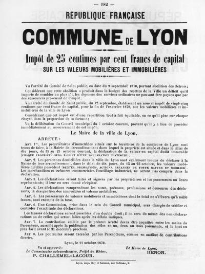 Commune De Lyon, from French Political Posters of the Paris Commune, May 1871--Giclee Print