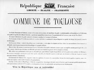 Commune De Toulouse, from French Political Posters of the Paris Commune