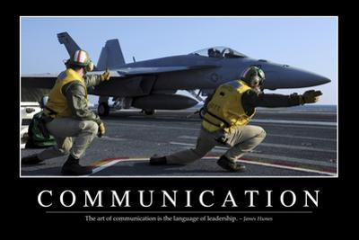 Communication: Inspirational Quote and Motivational Poster