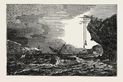 Communication with a Ship in Distress by Means of the Cliff Waggon--Giclee Print