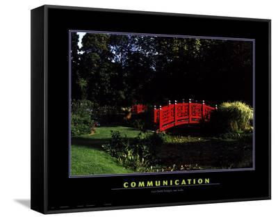 Communication--Framed Canvas Print