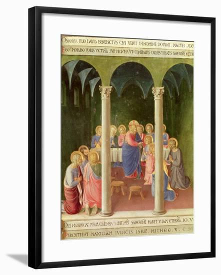 Communion of the Apostles, 1451-53-Fra Angelico-Framed Giclee Print