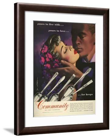 Community Cutlery, Magazine Advertisement, USA, 1950--Framed Giclee Print
