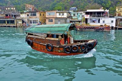 Community of Live-Aboard Boat People, Lei Yu Mai, Hong Kong-Richard Wright-Photographic Print