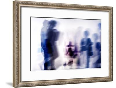 Commuters A--Framed Premium Giclee Print