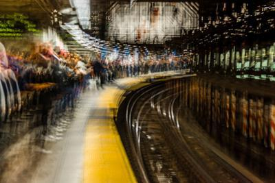Commuters in NYC subway system