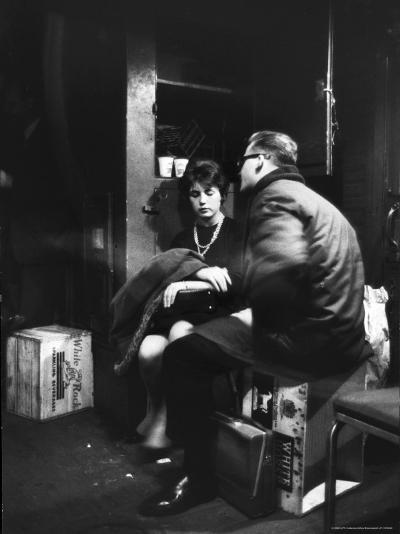 Commuters on the New York New Haven Line Riding in Baggage Car During Evening Rush Hour-Alfred Eisenstaedt-Photographic Print