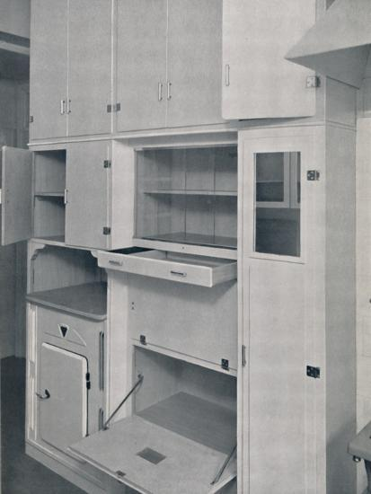 'Compactom Household Cupboard Units', 1936-Unknown-Photographic Print