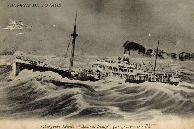 Compagnie Des Chargeurs Réunis, Dampfer Amiral Ponty--Giclee Print