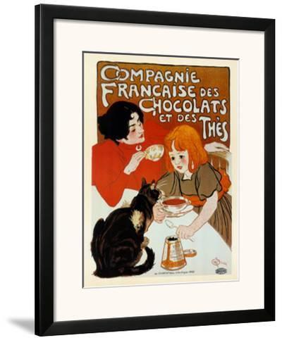 Compagnie des Chocolats et des Thes-Th?ophile Alexandre Steinlen-Framed Art Print