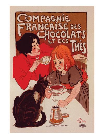 Compagnie Francaise des Chocolats-Théophile Steinlen-Art Print