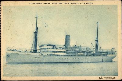 Compagnie Maritime Belge, S.S. Thysville,Dampfschiff--Giclee Print
