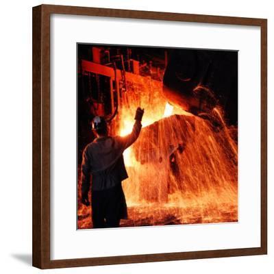 Compania de Acero Del Pacifico Steel Mill, Chile-Bill Ray-Framed Premium Photographic Print