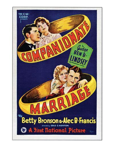 Companionate Marriage - 1928--Giclee Print