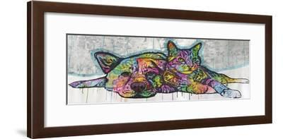 Companions, Cats, Dogs, Drips, Pets, Colorful, Pop Art, Tom and Jerry, Laying Down, Animals-Russo Dean-Framed Giclee Print