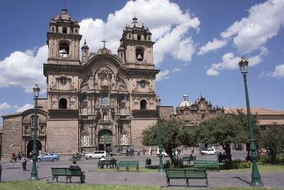 Company of Jesus Church, Plaza De Armas, Cuzco, Peru, South America-Peter Groenendijk-Photographic Print