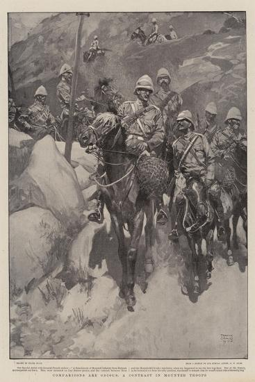 Comparisons are Odious, a Contrast in Mounted Troops-Frank Craig-Giclee Print