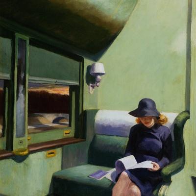 Matt COMPARTMENT C CAR by Edward Hopper Canvas Paper A4 or A3 Glossy