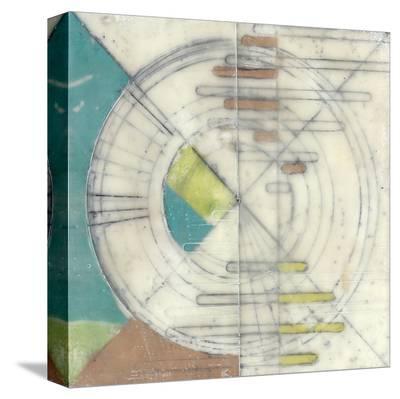 Compass II-Jennifer Goldberger-Stretched Canvas Print