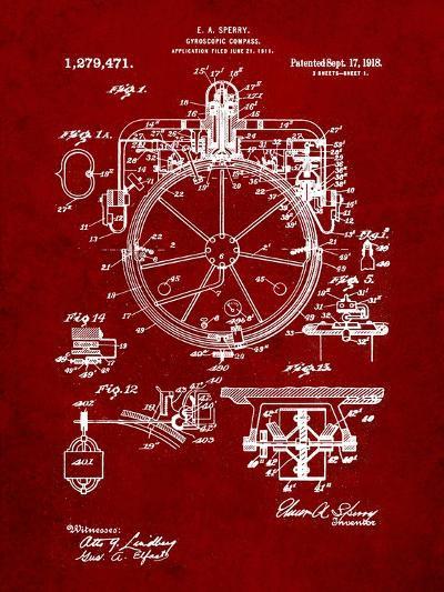 Compass Patent 1918-Cole Borders-Art Print