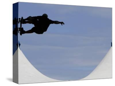 Competitor Performs During a Vertical International Skateboard Competition in Rio De Janeiro