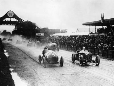 Competitors in the French Grand Prix, Strasbourg, 1922