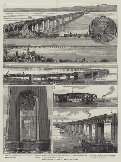 Completion of the New Tay Bridge at Dundee--Giclee Print