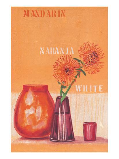 Composed in Orange-Anna Flores-Art Print